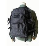防水布使用アメリカ軍A-3モール対応リュックレプリカ ブラック