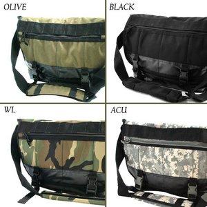 米軍防水布使用ポリエステルキャンパスメッセンジャーバック BS124YN ブラック 【レプリカ】
