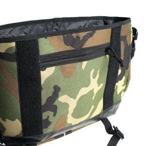 米軍防水布使用ポリエステルキャンパスメッセンジャーバック BS124YN ウッドランド 【レプリカ】