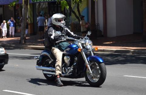 バイクに防水バッグ